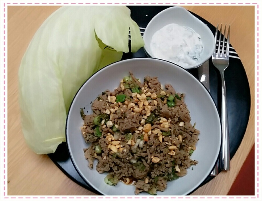 Chilli Beef with Cabbage Leaves